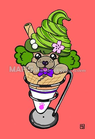 京・抹茶ソフト犬画像