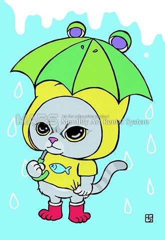 ねこ×雨。画像