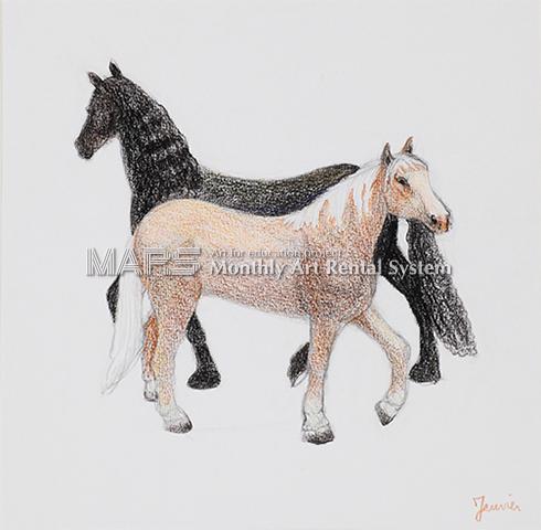 Deux chevavx 「二匹の馬」画像