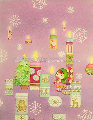 クリスマスの灯り画像